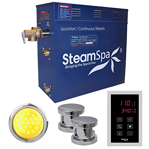 Free Aromatherapy Sampler Included Mr Steam MS-Super2-EC1 12 KW Steam Bath Generator with I Butler Package in White
