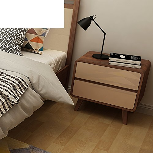 FJIWDTGYHFGT Nordic Bedside Tables,Bedroom Storage Chest of Drawers Modern Simple Drawers cabinets-A