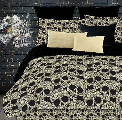Skulls Comforter Set for Teen Bedding - 3 Piece - King Size