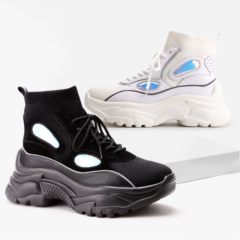 New High Top Platform Sneakers + FREE SHIPPING