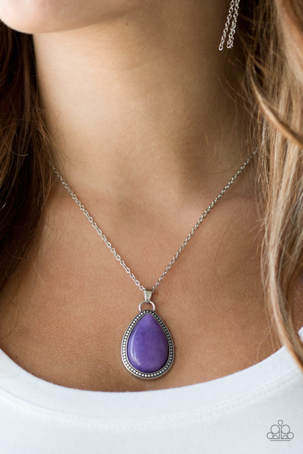 Paparazzi Necklace - On The Home FRONTIER - Purple