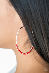 Paparazzi Earrings - So Seren-DIP-itous - Red