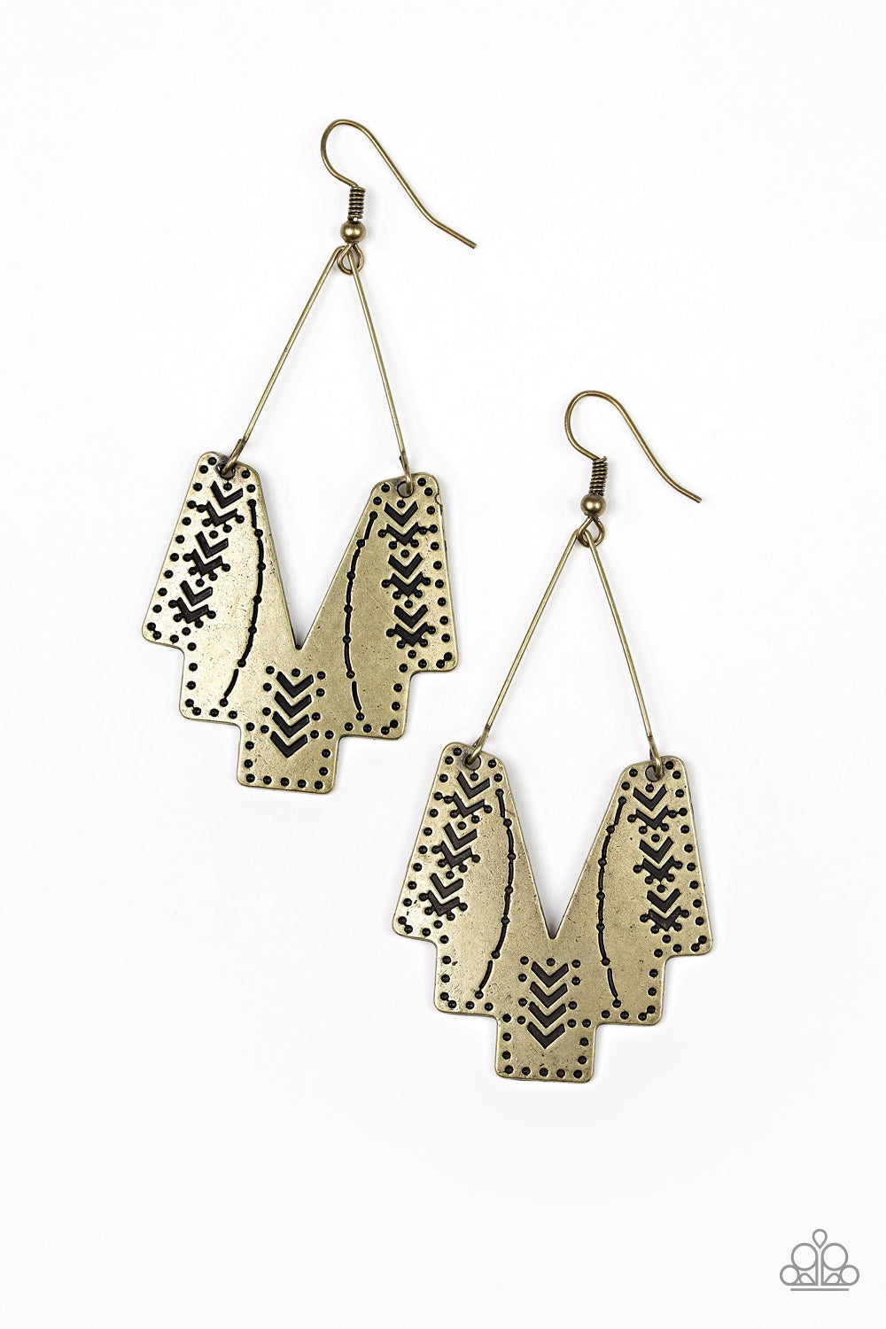 Paparazzi Earrings - Arizona Adobe - Brass