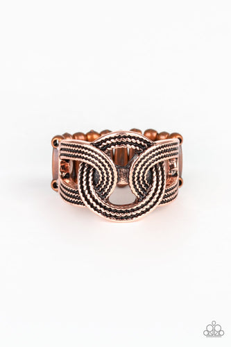 Paparazzi Ring - Join Forces - Copper