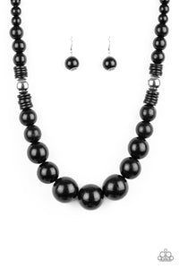 Panama Panoroma - Black - Paparazzi Necklace