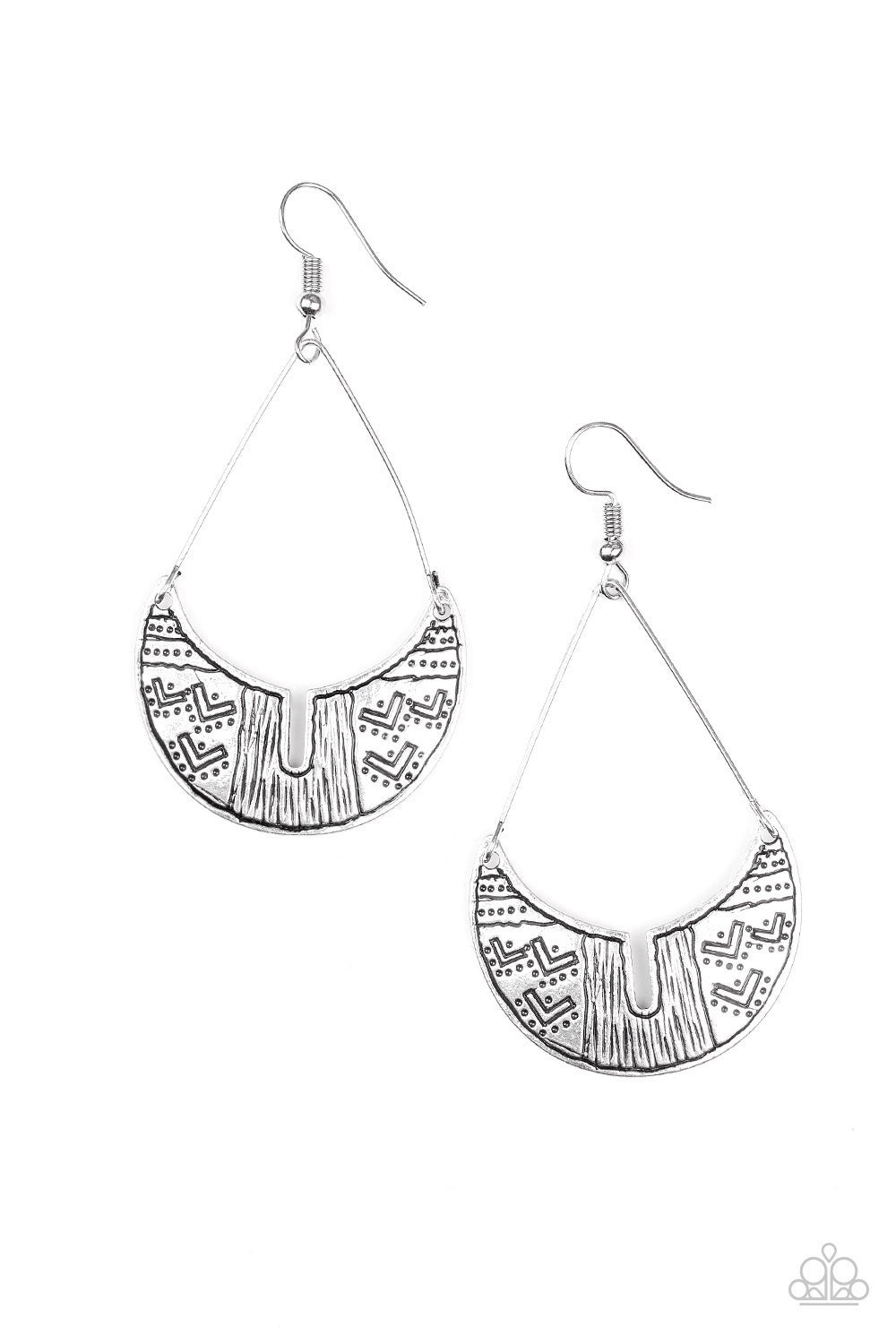 Paparazzi Earring - Trading Post Trending - Silver