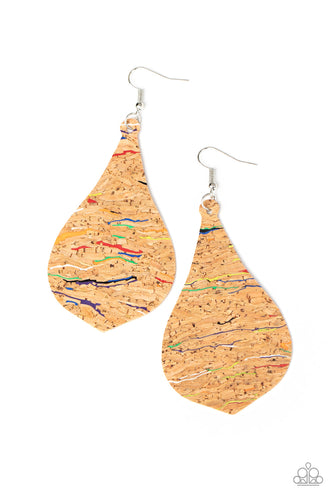 Paparazzi Earring  - Cork Coast - Multi -New Releases