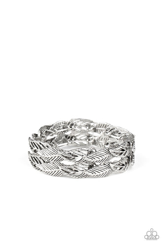 Paparazzi Bracelet - Its Five o FLOCK Somewhere - Silver