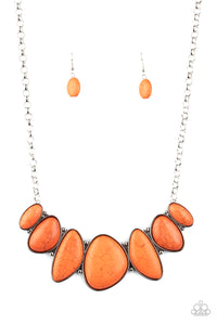 Paparazzi Necklace - Primitive - Orange (sold as set only) - New Release
