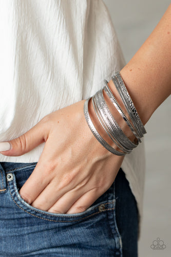 Paparazzi Bracelet - Relics On Repeat - Silver - New Release