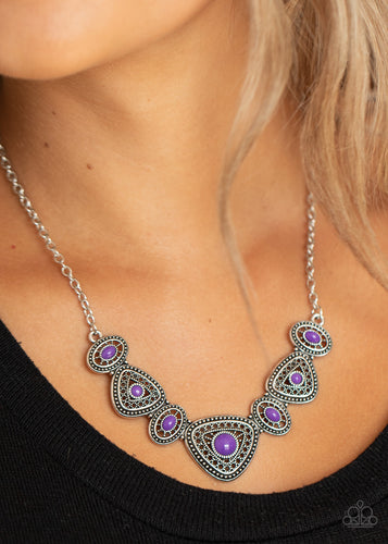 Paparazzi Necklace - Totally TERRA-torial - Purple