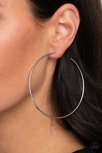 Paparazzi Earring - Very Curvaceous - Silver
