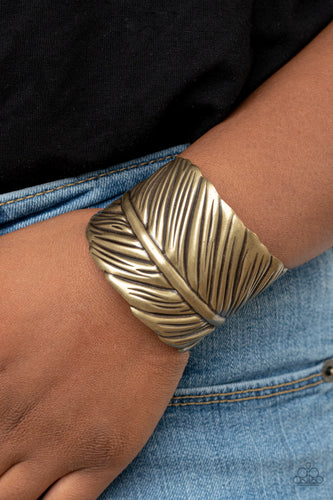 Paparazzi Bracelet - Where Theres a QUILL, Theres a Way - Brass