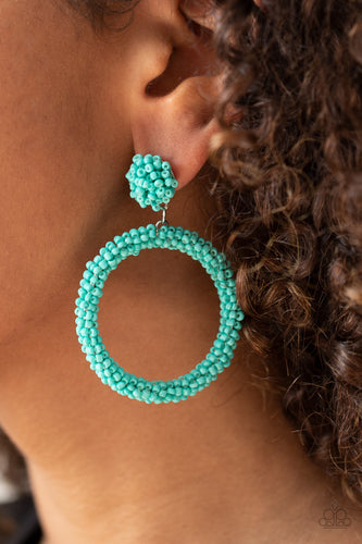 Paparazzi Earring - Be All You Can BEAD - Blue - New Release