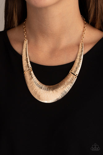 Paparazzi Necklace - Feast or Famine - Gold