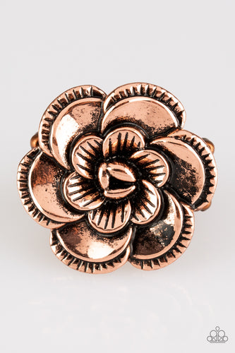 Paparazzi Ring - FLOWERBED and Breakfast - Copper