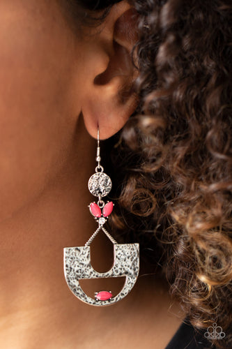 Paparazzi Earring - Modern Day Mecca - Pink - New Releases