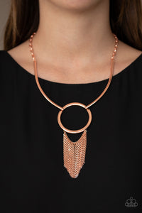 Paparazzi Copper Necklace - Pharaoh Paradise - Copper - New Release