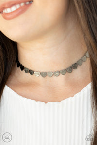 Paparazzi Choker - New Release - Playing HEART To Get - Black