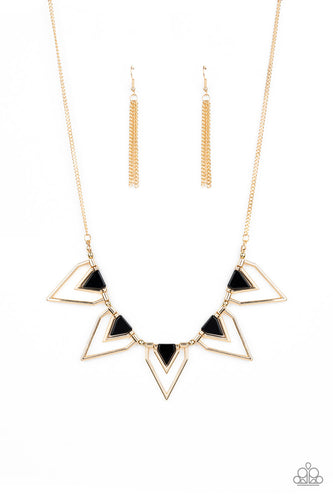 Paparazzi Necklace - New Release - The Pack Leader - Gold
