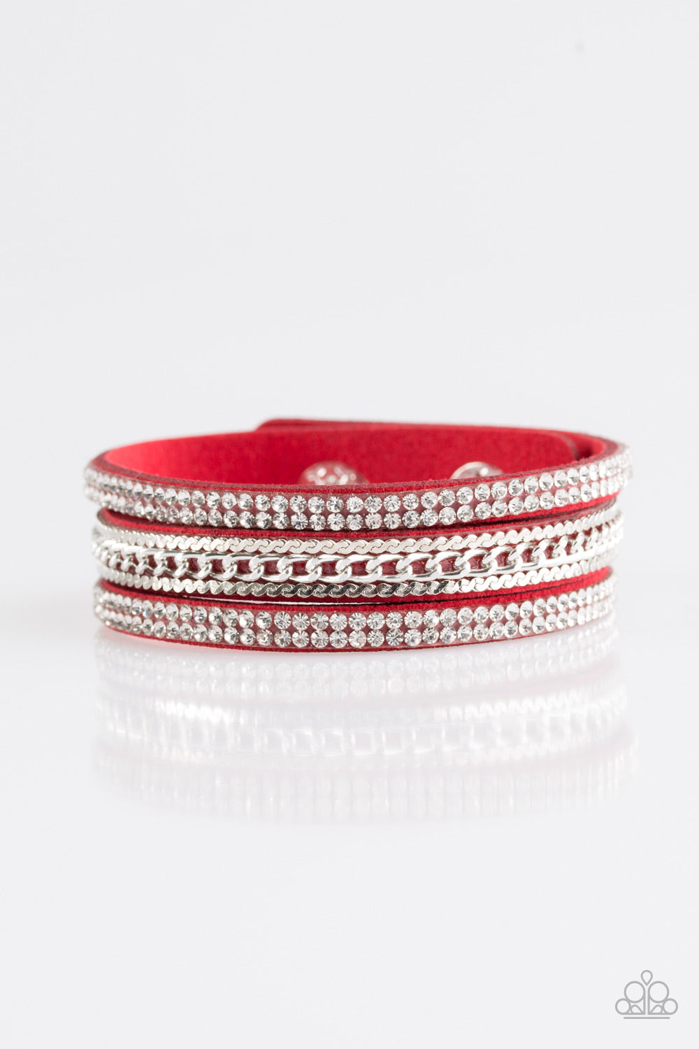 Paparazzi Bracelet  - Unstoppable - Red