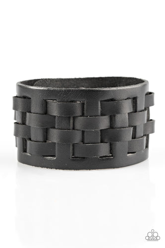 Paparazzi Mens Urban Bracelet - Road Hog - Black