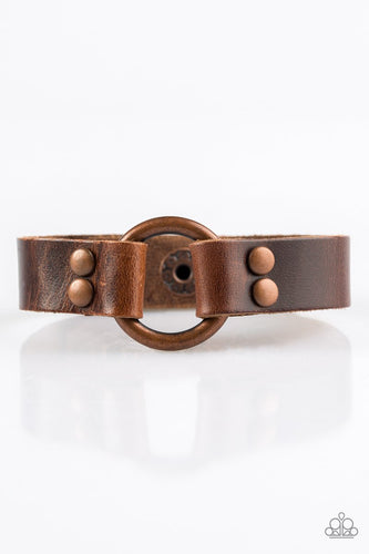Paparazzi Bracelet - Urban Outlaw - Copper