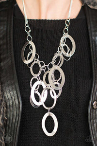 Paparazzi Blockbuster Necklace  - A Silver Spell