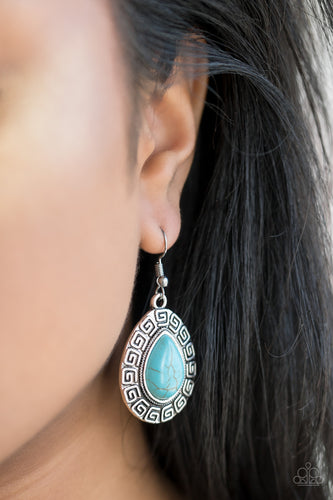 Paparazzi Earring  - Tribal Tango - Blue