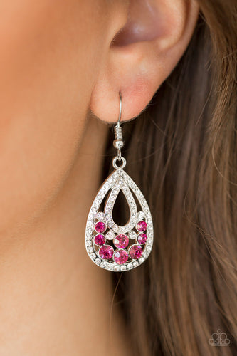 Paparazzi Earring - Sparkling Stardom - Pink