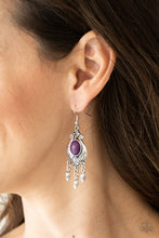Load image into Gallery viewer, Paparazzi Earring - Enchantingly Environmentalist - Purple