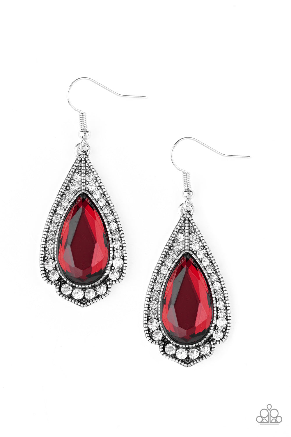 Paparazzi Earring  - Superstar Stardom - Red