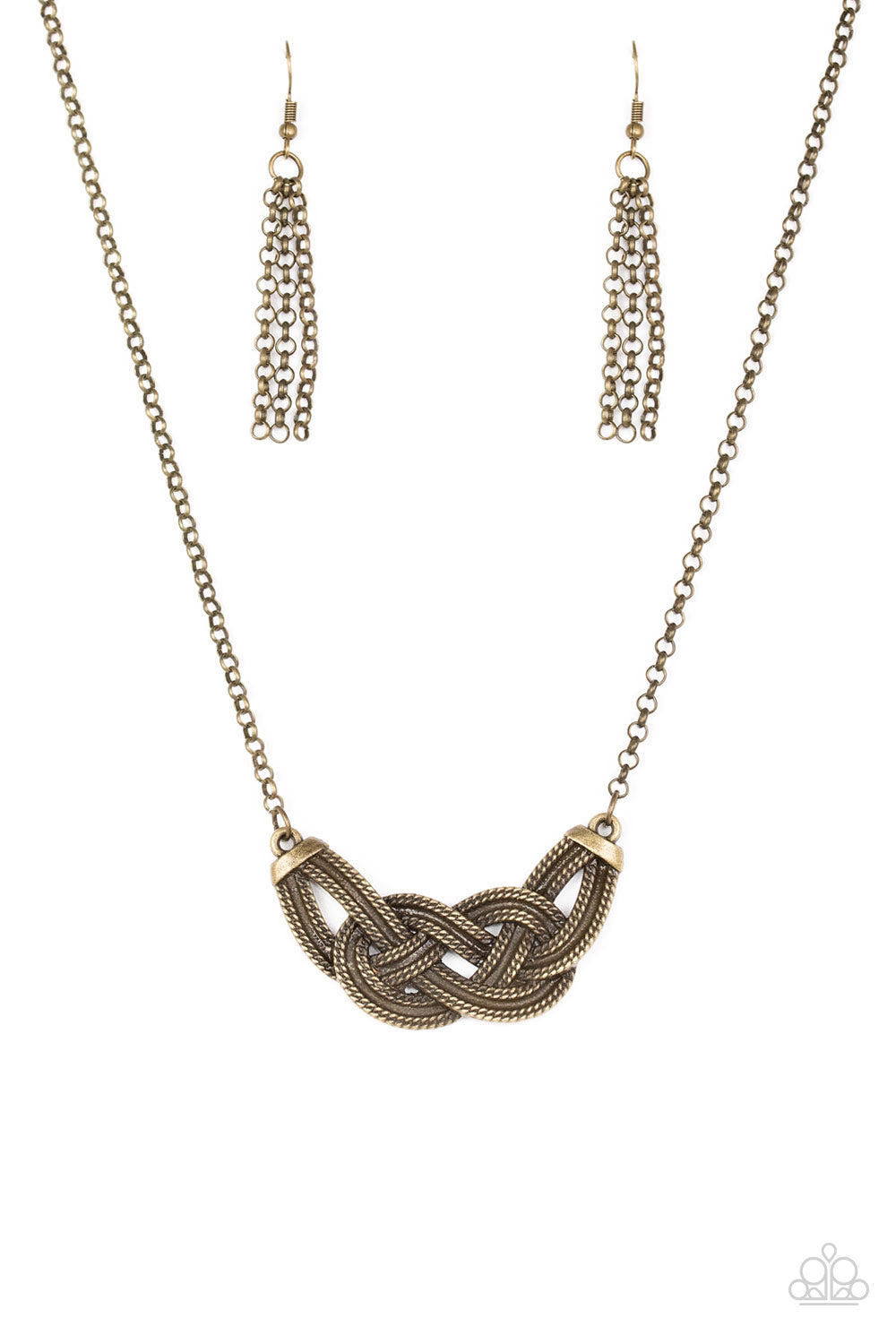 Paparazzi Necklace - Nautically Naples - Brass