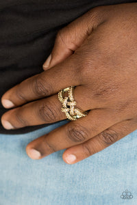 Paparazzi  Ring - Can Only Go UPSCALE From Here - Brass