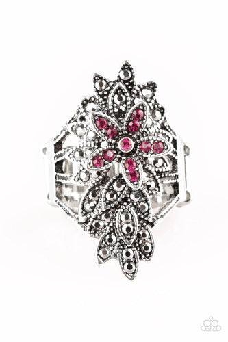 Paparazzi Ring - Formal Floral - Pink