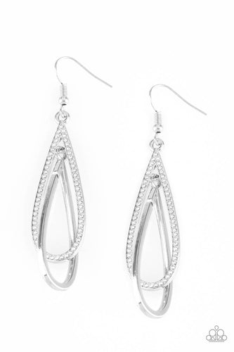 Paparazzi  Earrings - Spotlight Splendor - White