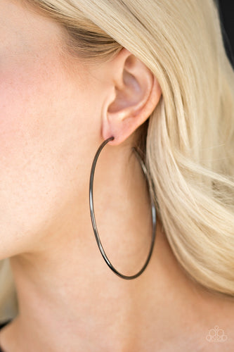Paparazzi Earrings - Meet Your Maker! - Black