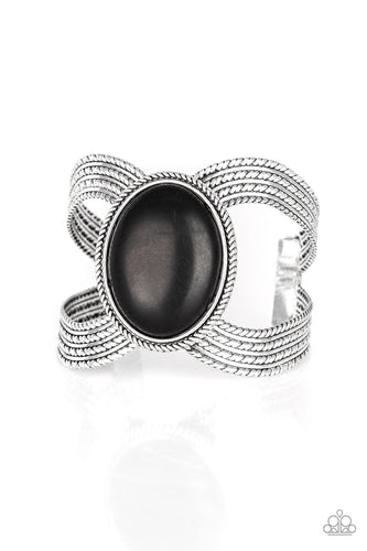 Paparazzi Cuff Bracelet - Coyote Couture - Black