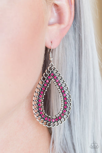 Paparazzi Earring - Mechanical Marvel - Pink