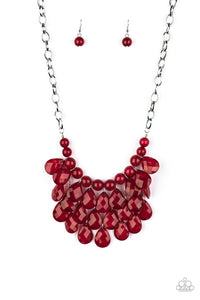 Paparazzi Necklace - Sorry To Burst Your Bubble - Red