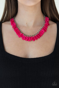 Paparazzi Necklace - Super Bloom - Pink