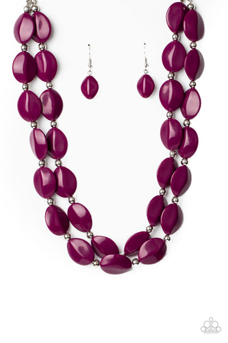 Paparazzi Necklace - Two-Story Stunner - Purple - New Release