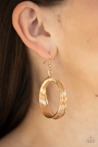 New Release - Paparazzi Earring - Urban-Spun - Gold