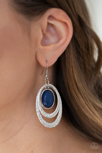 Paparazzi Earring - Seaside Spinster - Blue