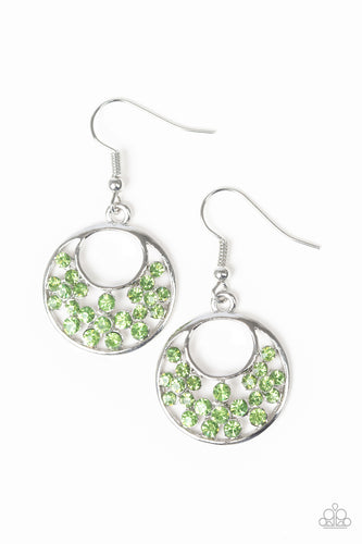 Paparazzi Earrings  - Sugary Shine - Green
