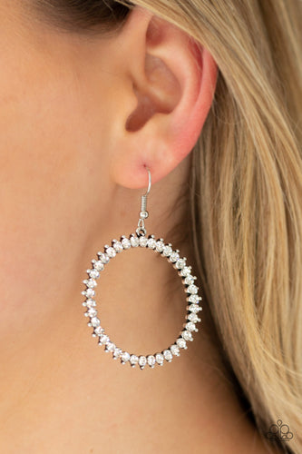 Paparazzi Earrings  - Spark Their Attention - White