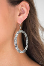Load image into Gallery viewer, Paparazzi Earrings  - Rhinestone Rebel - White