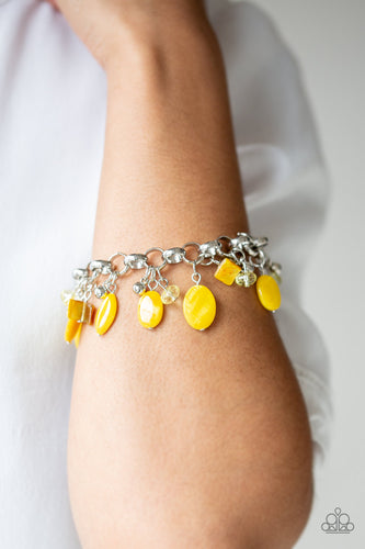Paparazzi Bracelet - Seashore Sailing - Yellow