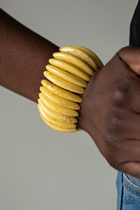 Paparazzi Bracelet  - Naturally Nomad - Yellow