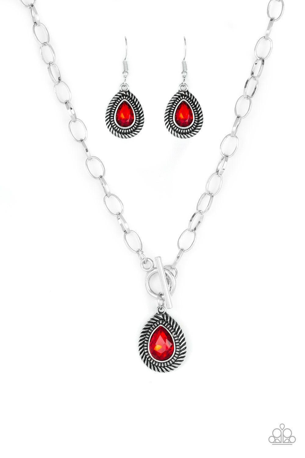 Paparazzi Necklace - Sheen Queen - Red